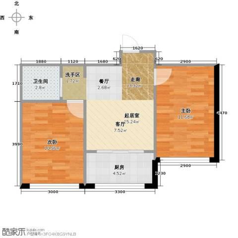 望云山景2室0厅1卫1厨59.00㎡户型图