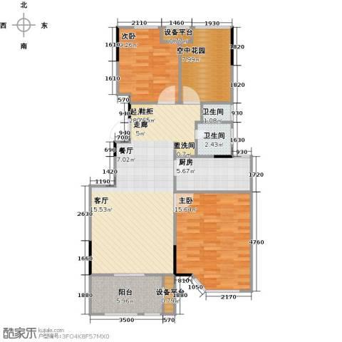绿地世纪城2室0厅2卫1厨85.00㎡户型图