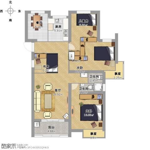 中铁诺德誉园4室2厅2卫1厨133.00㎡户型图