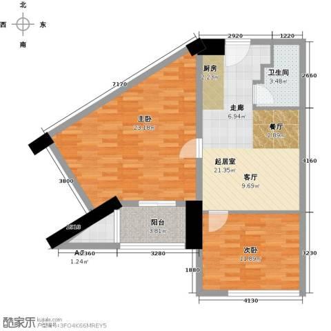 众一富东广场2室0厅1卫0厨82.00㎡户型图