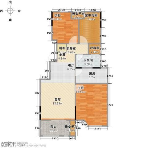 绿地世纪城2室0厅1卫1厨106.00㎡户型图