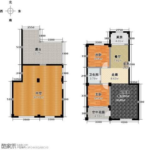 城南公馆2室0厅1卫1厨190.00㎡户型图