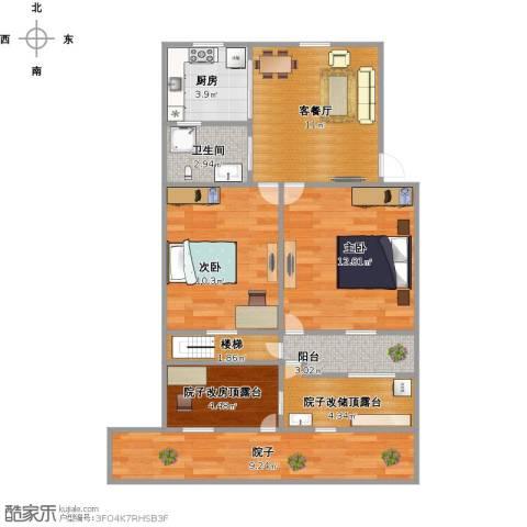 朝晖四区1室1厅1卫1厨87.00㎡户型图
