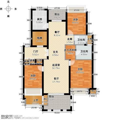 华润置地橡树湾3室0厅2卫1厨125.00㎡户型图