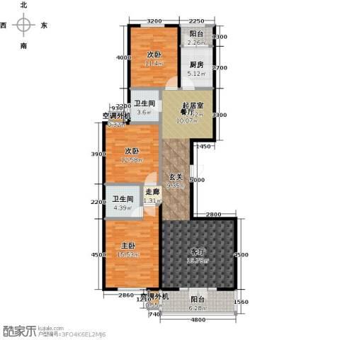 御�华府3室0厅2卫1厨144.00㎡户型图