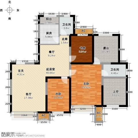 金地长青湾3室0厅2卫1厨137.92㎡户型图