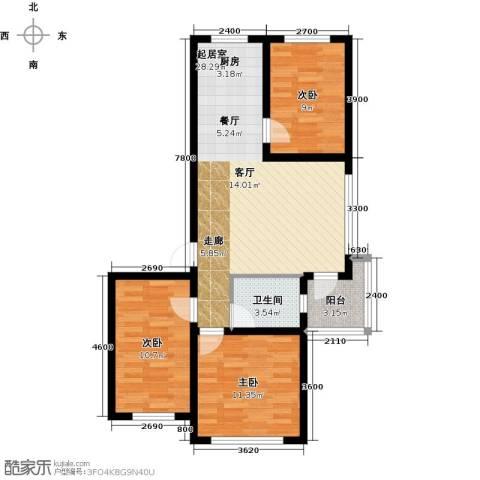 万升前城国际3室0厅1卫0厨86.00㎡户型图