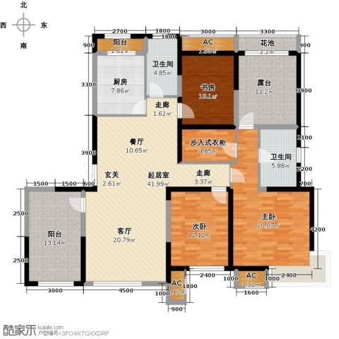 金地长青湾3室0厅2卫1厨160.12㎡户型图