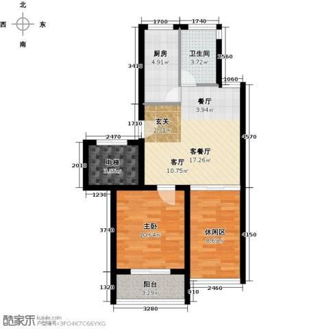 赛格国际公寓1室1厅1卫1厨60.00㎡户型图