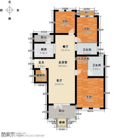 加州玫瑰园3室0厅2卫1厨168.00㎡户型图