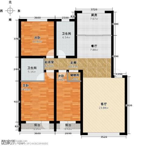 万升前城国际3室0厅2卫1厨142.00㎡户型图