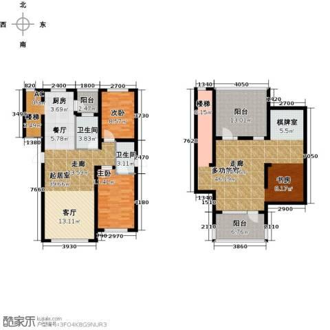 万升前城国际2室0厅2卫0厨192.00㎡户型图