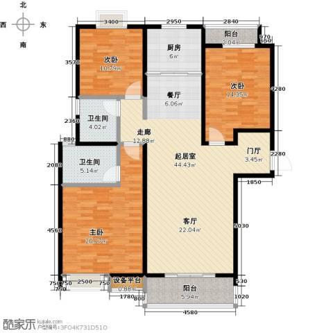 逸景湾3室0厅2卫1厨128.00㎡户型图