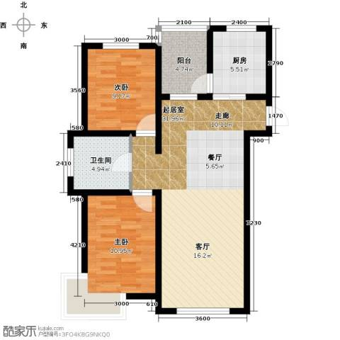 万升前城国际2室0厅1卫1厨97.00㎡户型图