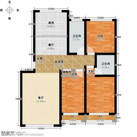 万升前城国际3室0厅2卫1厨140.00㎡户型图