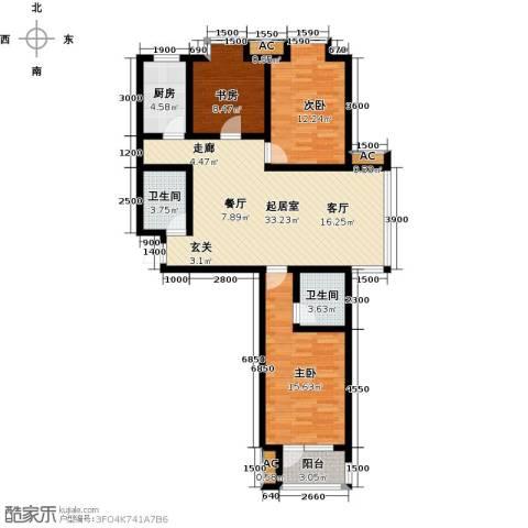 中环广场3室0厅2卫1厨126.00㎡户型图