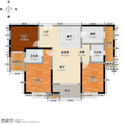 九方城3室0厅2卫1厨144.00㎡户型图