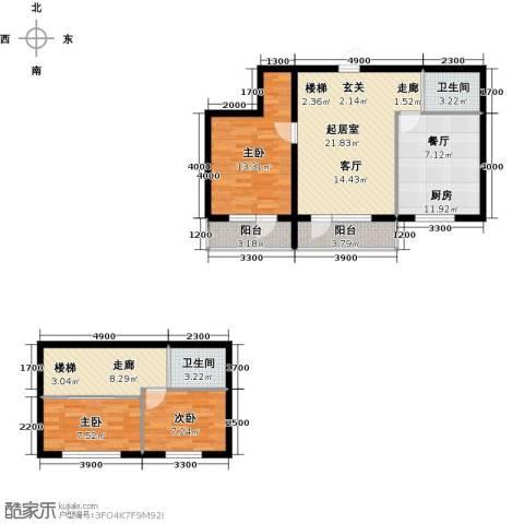 蓝山国际3室0厅2卫1厨119.00㎡户型图