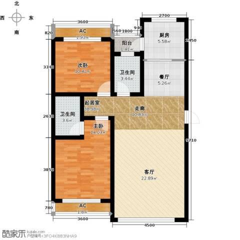 万升前城国际2室0厅2卫1厨118.00㎡户型图
