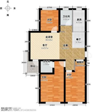 万升前城国际3室0厅2卫1厨113.00㎡户型图