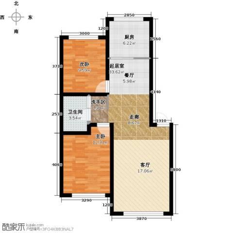 万升前城国际2室0厅1卫1厨93.00㎡户型图