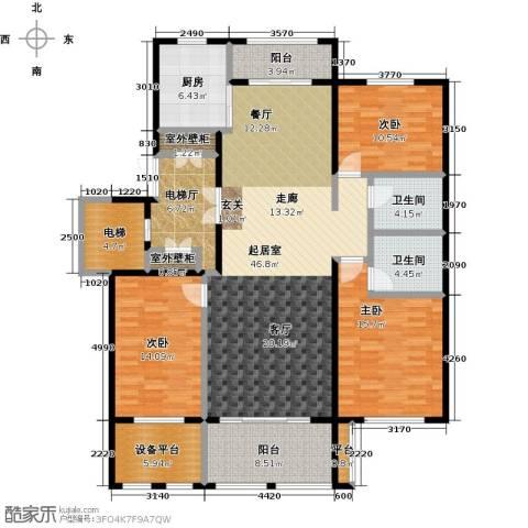 领秀城3室0厅2卫1厨191.00㎡户型图