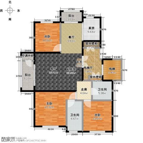 领秀城3室0厅2卫1厨175.00㎡户型图