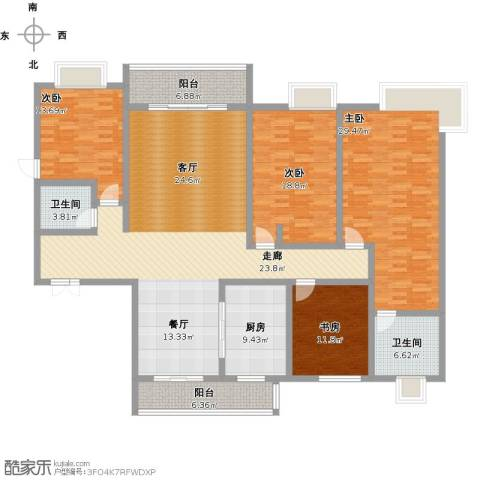 紫薇永和坊4室1厅2卫1厨240.00㎡户型图