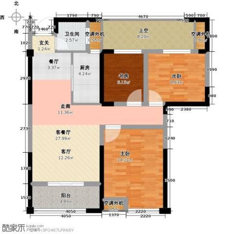 太平洋森活广场3室1厅1卫1厨112.00㎡户型图