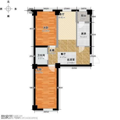 金港馨都2室0厅1卫1厨90.00㎡户型图