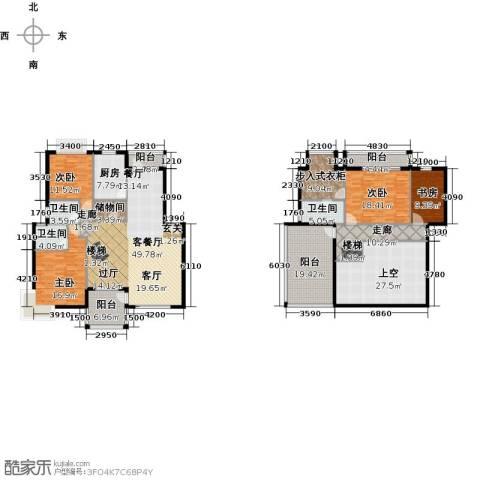 赛格国际公寓4室1厅3卫1厨210.04㎡户型图