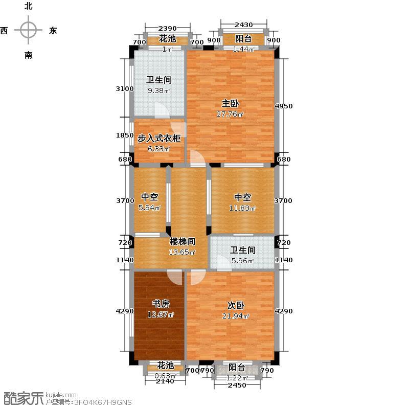 帝景山庄户型3室2卫