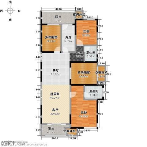 保利东湾国际2室0厅2卫1厨117.00㎡户型图