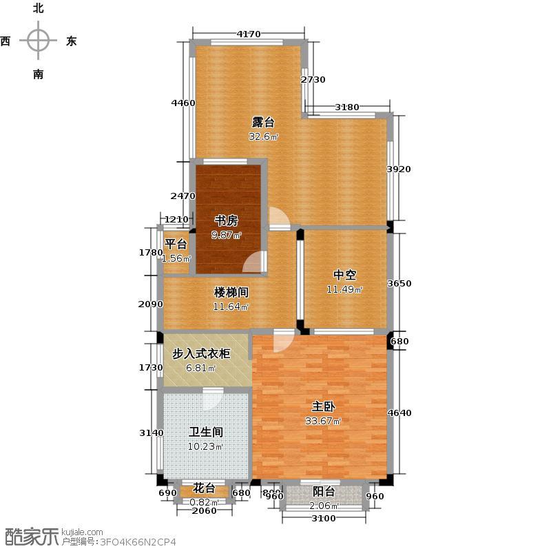 帝景山庄户型2室1卫