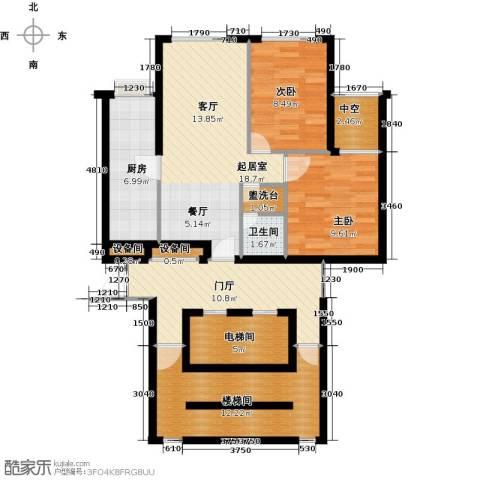 大西洋新城2室0厅1卫1厨93.00㎡户型图