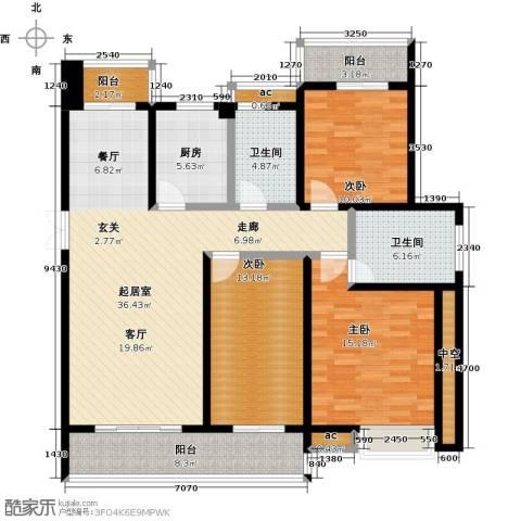 缇香一品3室0厅2卫1厨131.00㎡户型图