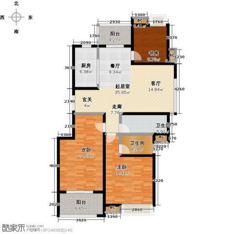 缇香一品3室0厅2卫1厨134.00㎡户型图