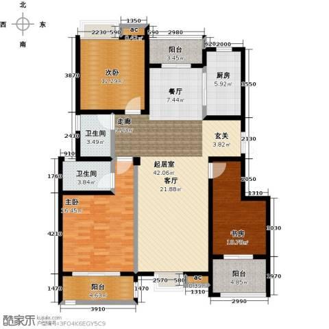 缇香一品3室0厅2卫1厨129.00㎡户型图