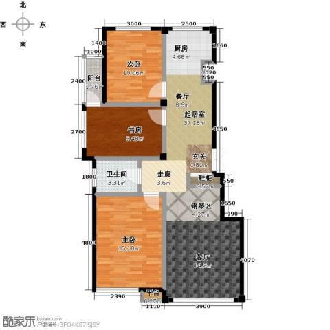 枫丹丽舍3室0厅1卫0厨102.00㎡户型图