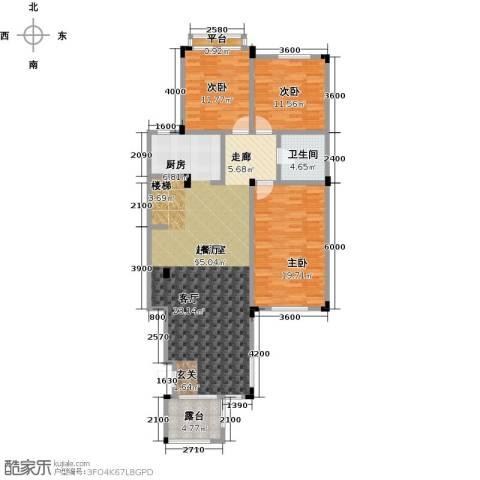 阳光地中海3室0厅1卫0厨133.00㎡户型图