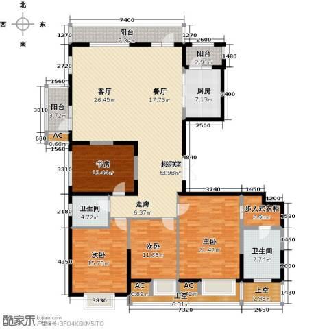 金地长青湾4室0厅2卫1厨194.65㎡户型图