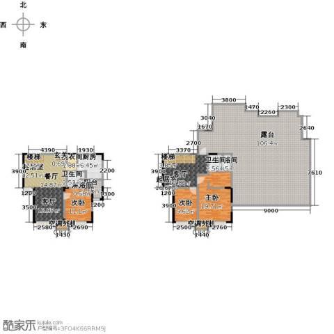 华发新城3室0厅2卫1厨213.95㎡户型图