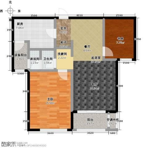 仁恒湖滨城2室0厅1卫1厨99.00㎡户型图
