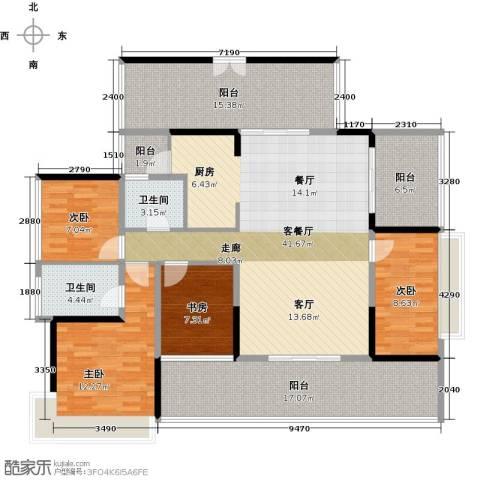 潜龙曼海宁4室1厅2卫0厨141.00㎡户型图
