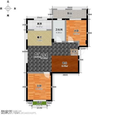 湾德里华府2室0厅1卫1厨80.91㎡户型图