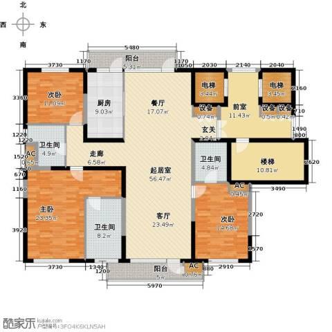 金地长青湾3室0厅3卫1厨200.00㎡户型图