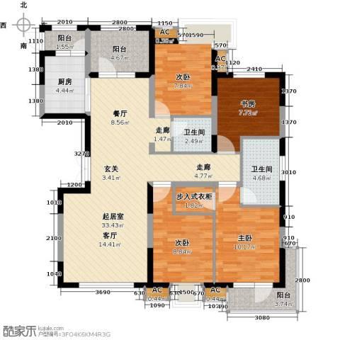 金地长青湾4室0厅2卫1厨108.59㎡户型图