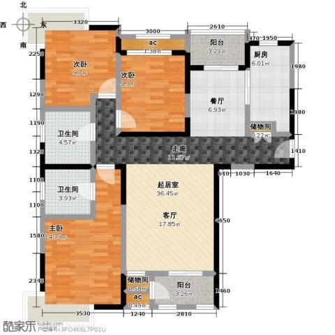融科金月湾3室0厅2卫1厨130.00㎡户型图