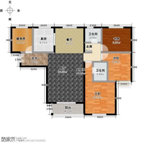 唐山万达广场3室0厅2卫1厨146.00㎡户型图
