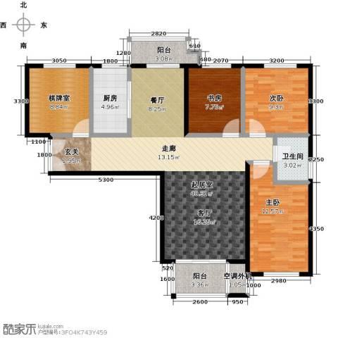 唐山万达广场3室0厅1卫1厨135.00㎡户型图